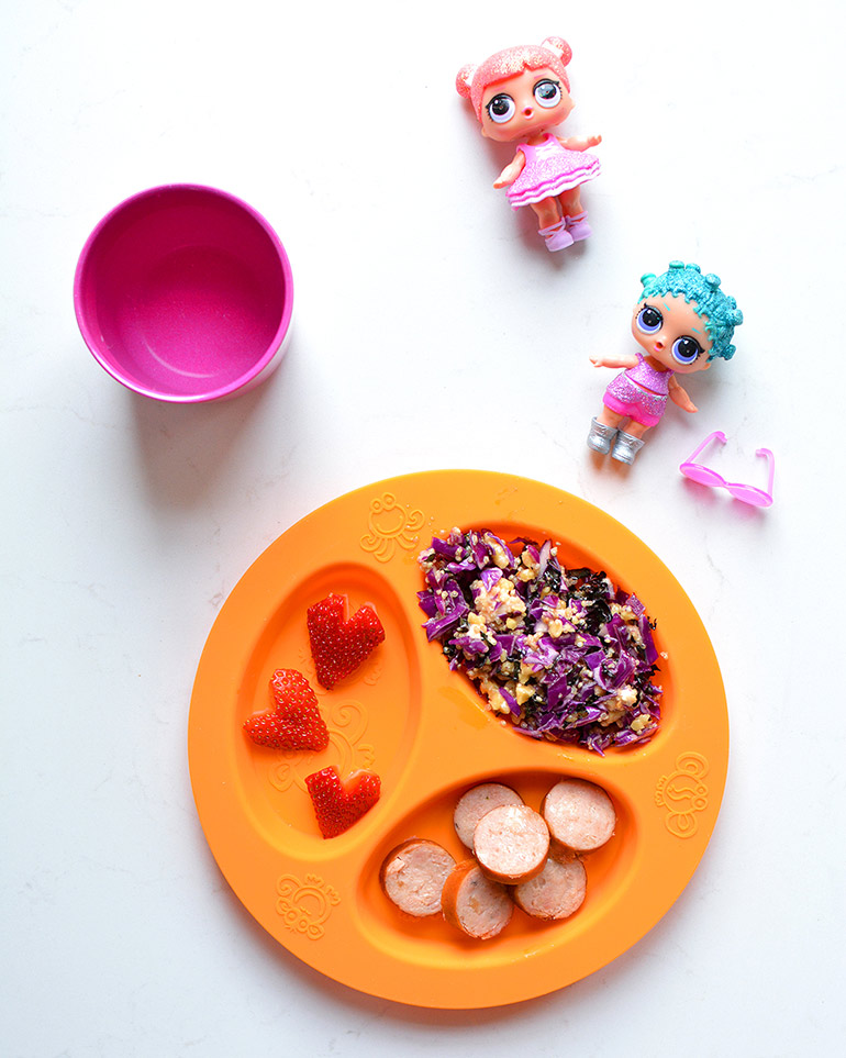 kid version of purple power salad