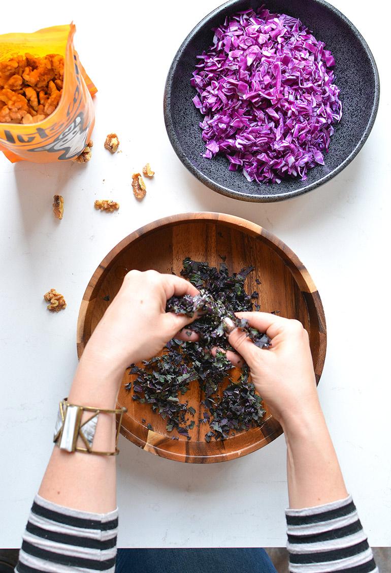 purple power salad with nutsdotcom