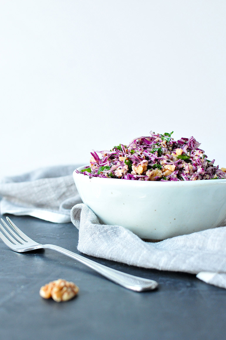 purple power salad with quinoa