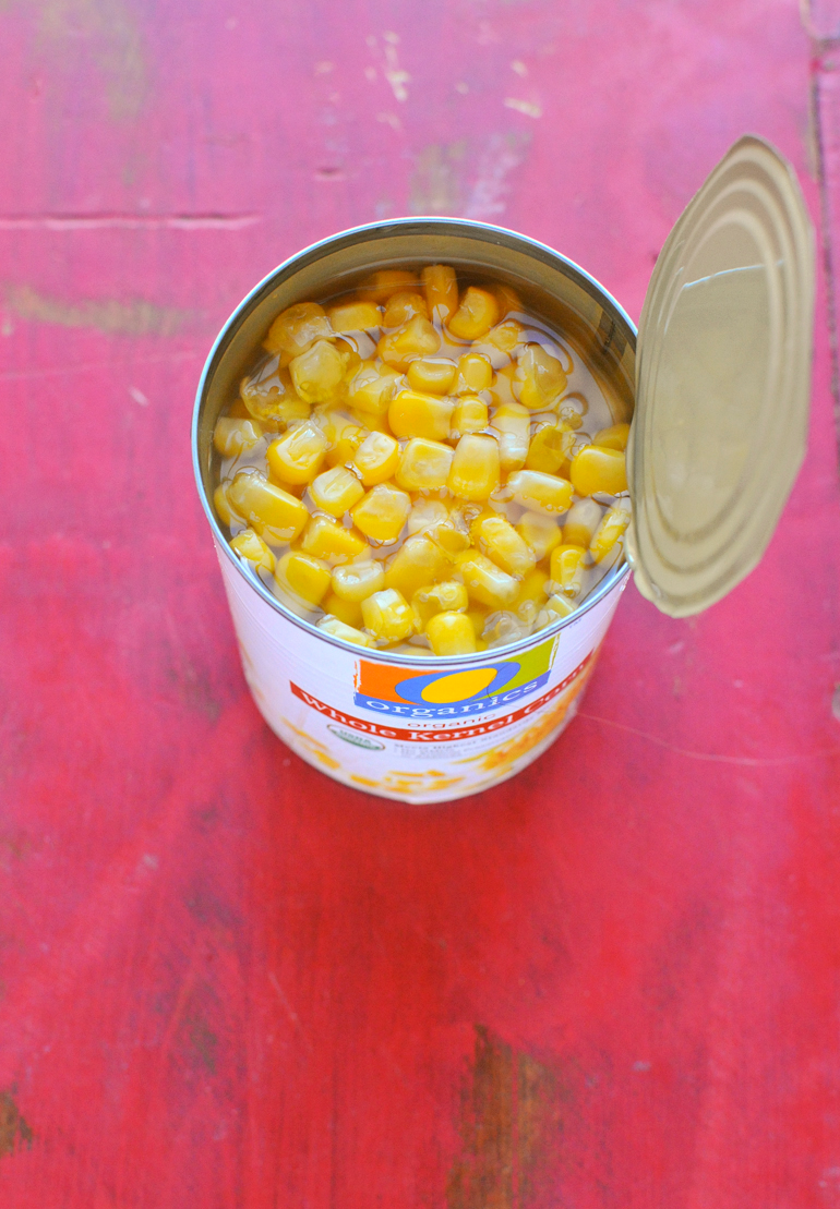 can of safeway organics corn