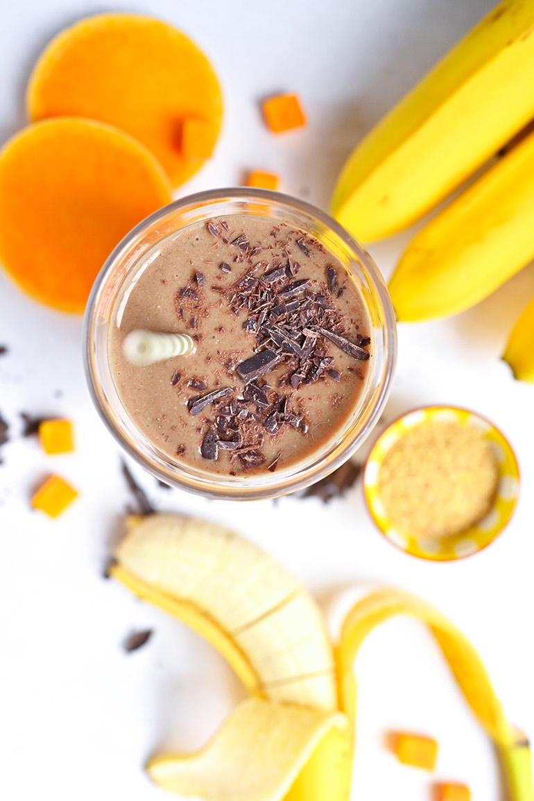 chocolate smoothie with Silk