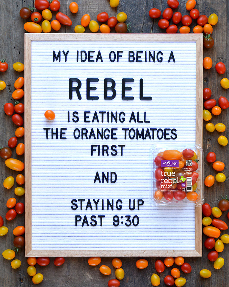 letterboard about being a rebel