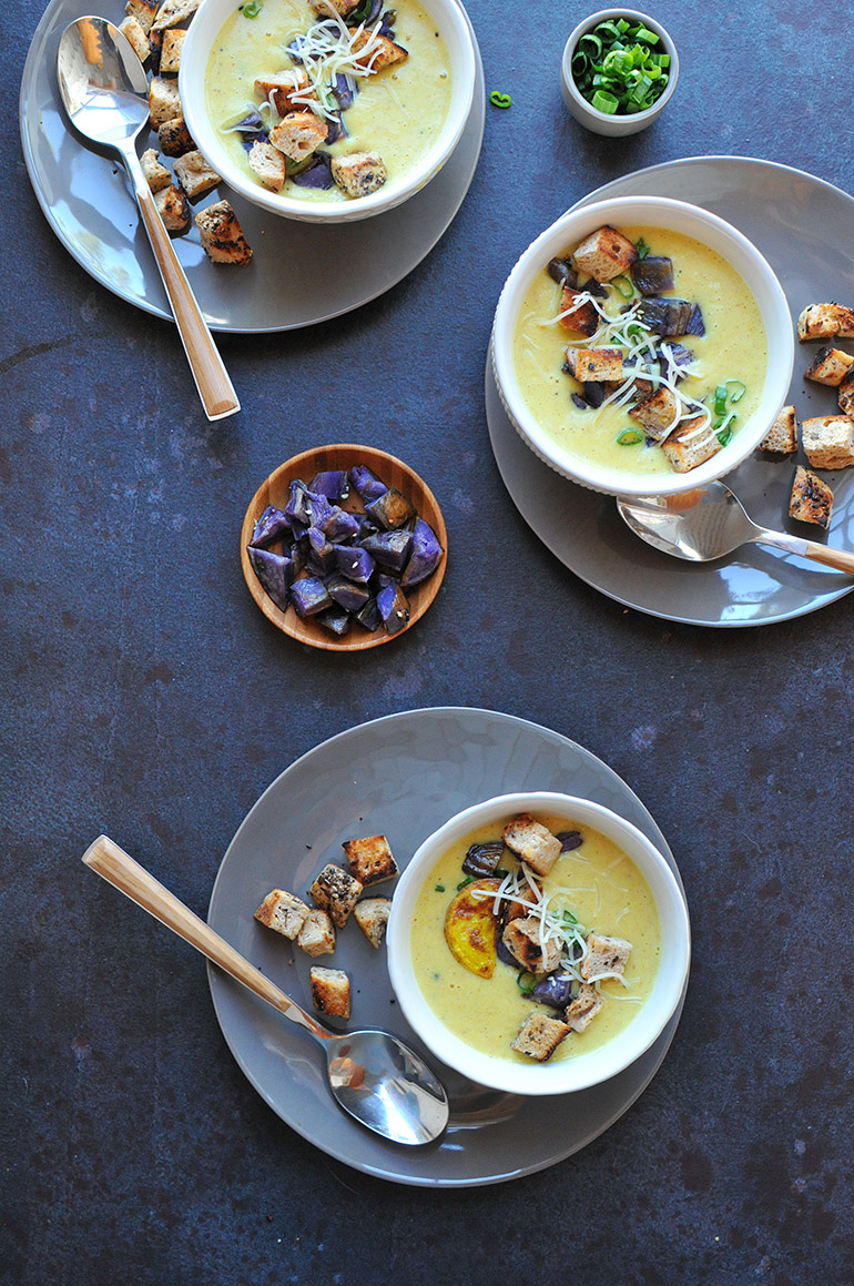 roasted cauliflower and potato soup