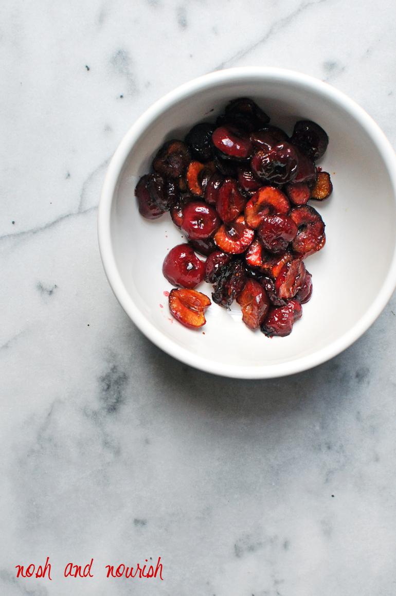 bowl of roasted cherries