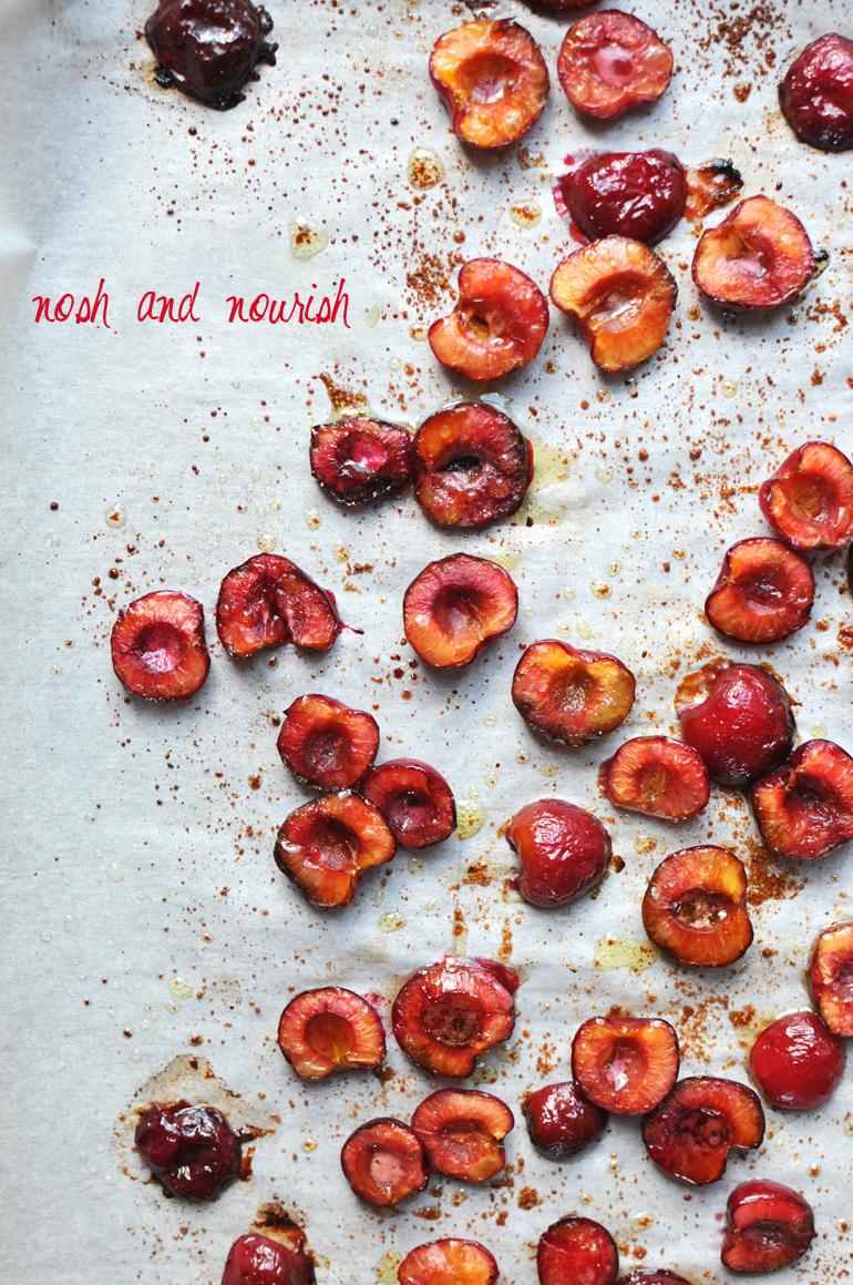 roasted cherries