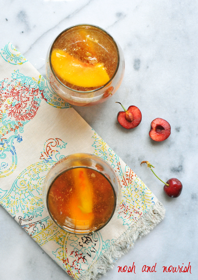 roasted cherry sangria above