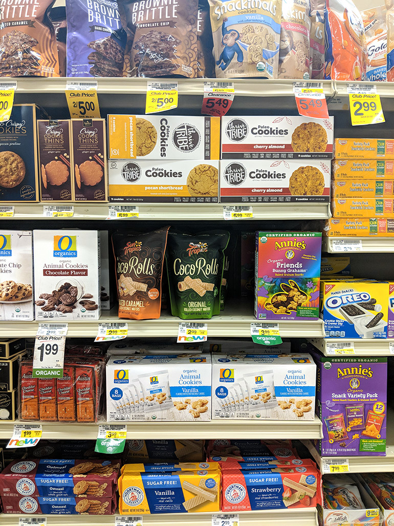 safeway o organics products in store