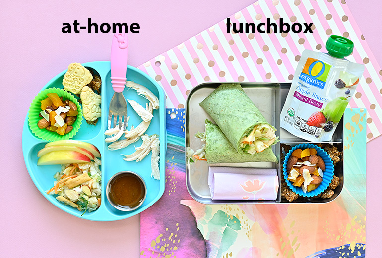 at-home versus lunchbox version
