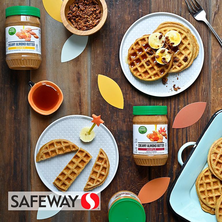 open nature almond butter waffles