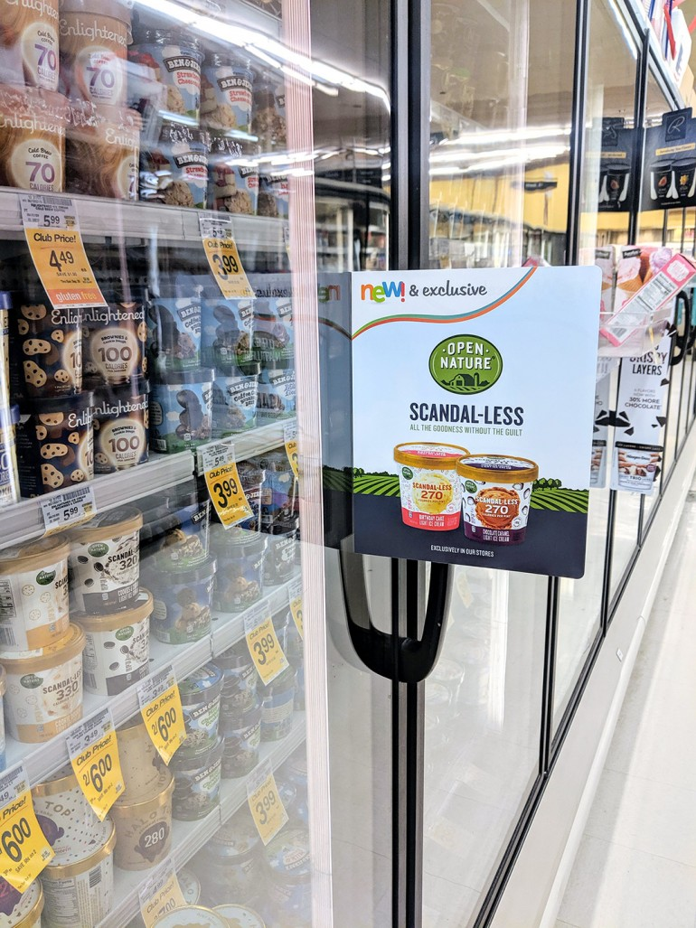 scandal-less ice cream in safeway stores