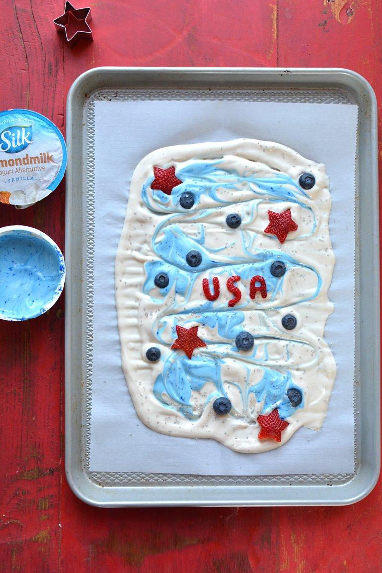 patriotic yogurt bark team USA