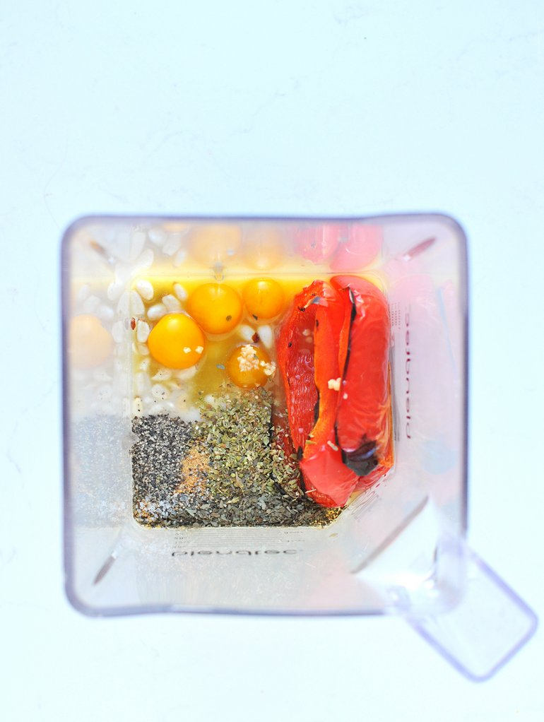 red pepper alfredo made in the blendtec