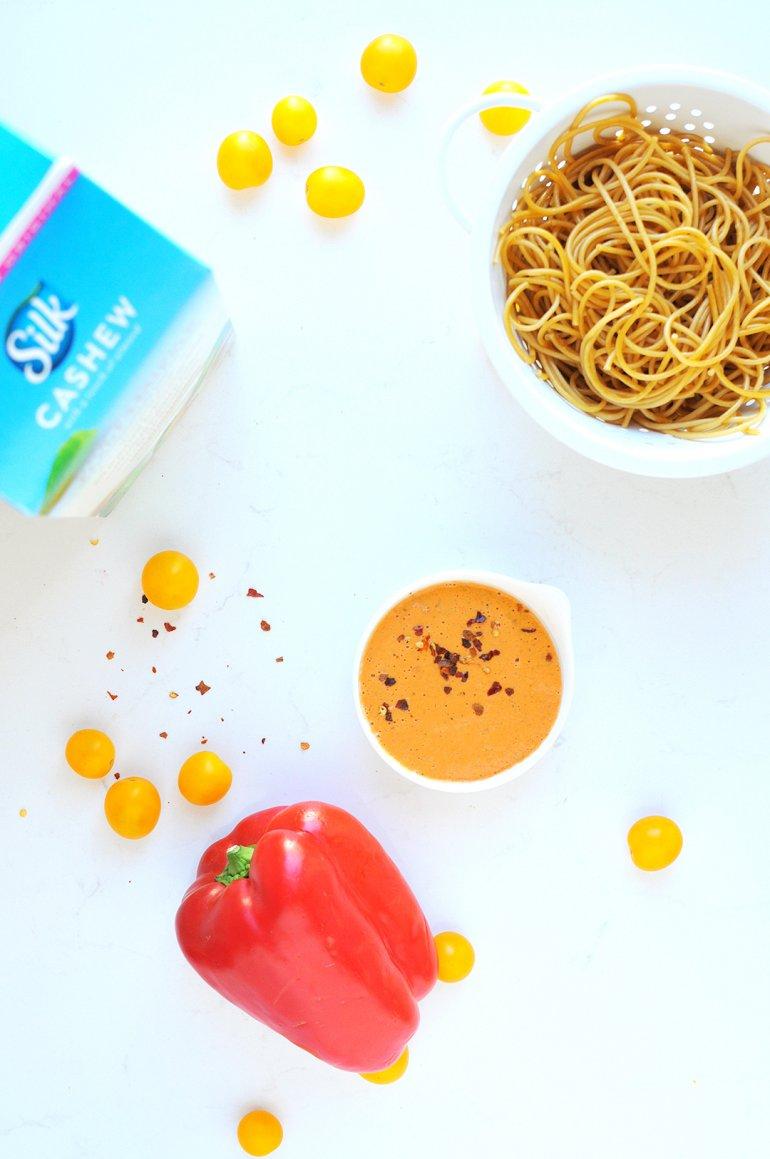 red pepper alfredo ingredients