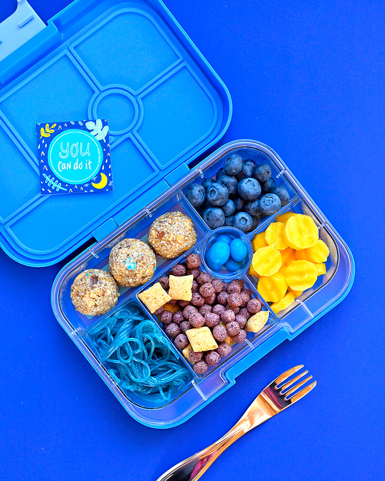 blue themed lunchbox