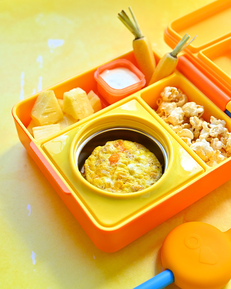 easy breakfast casserole in lunchbox