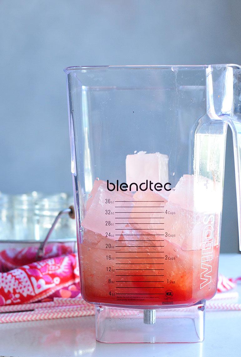 frose in blender
