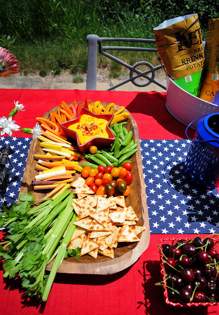veggie tray for summer bbq