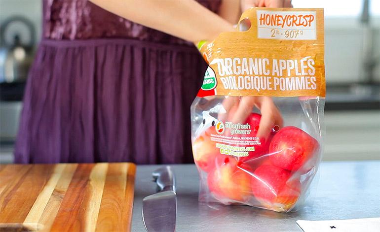 superfresh honeycrisp apples in bag