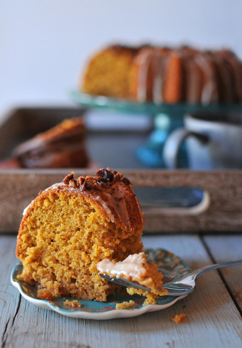 sweet potato bourbon cake sliced