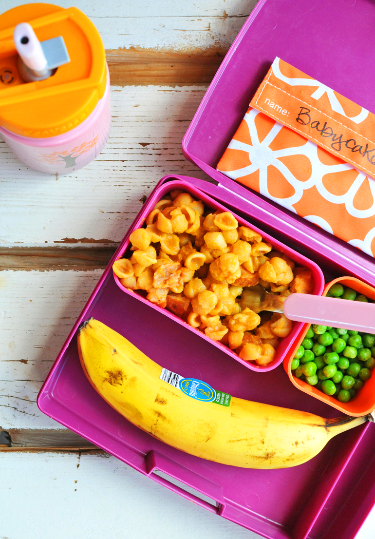 easy healthy lunchbox with sweet potato mac
