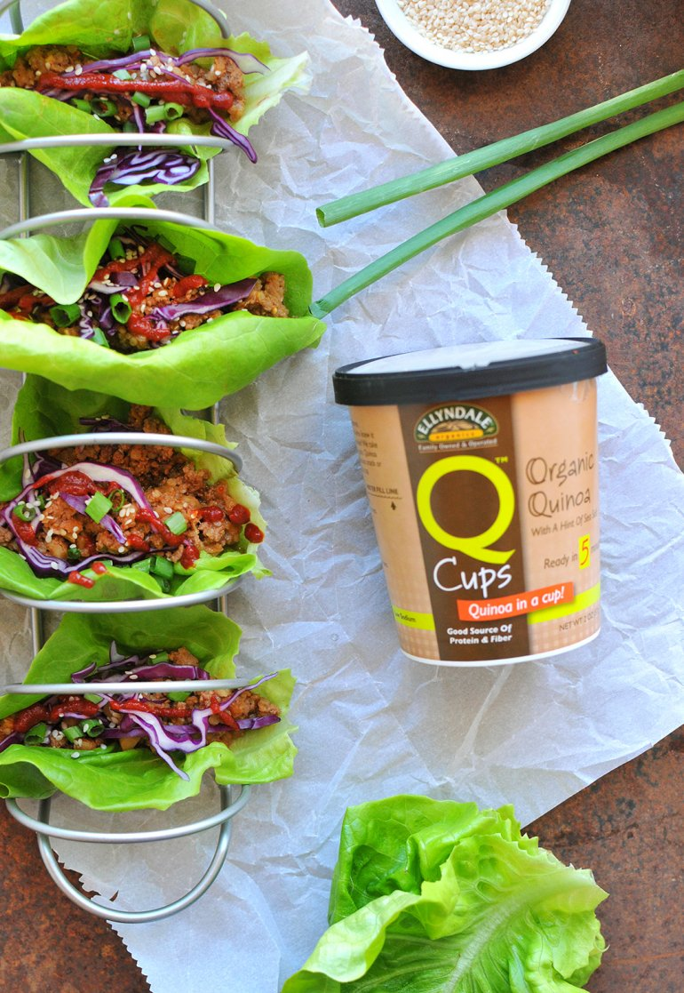 asian lettuce wraps with q cups from now foods