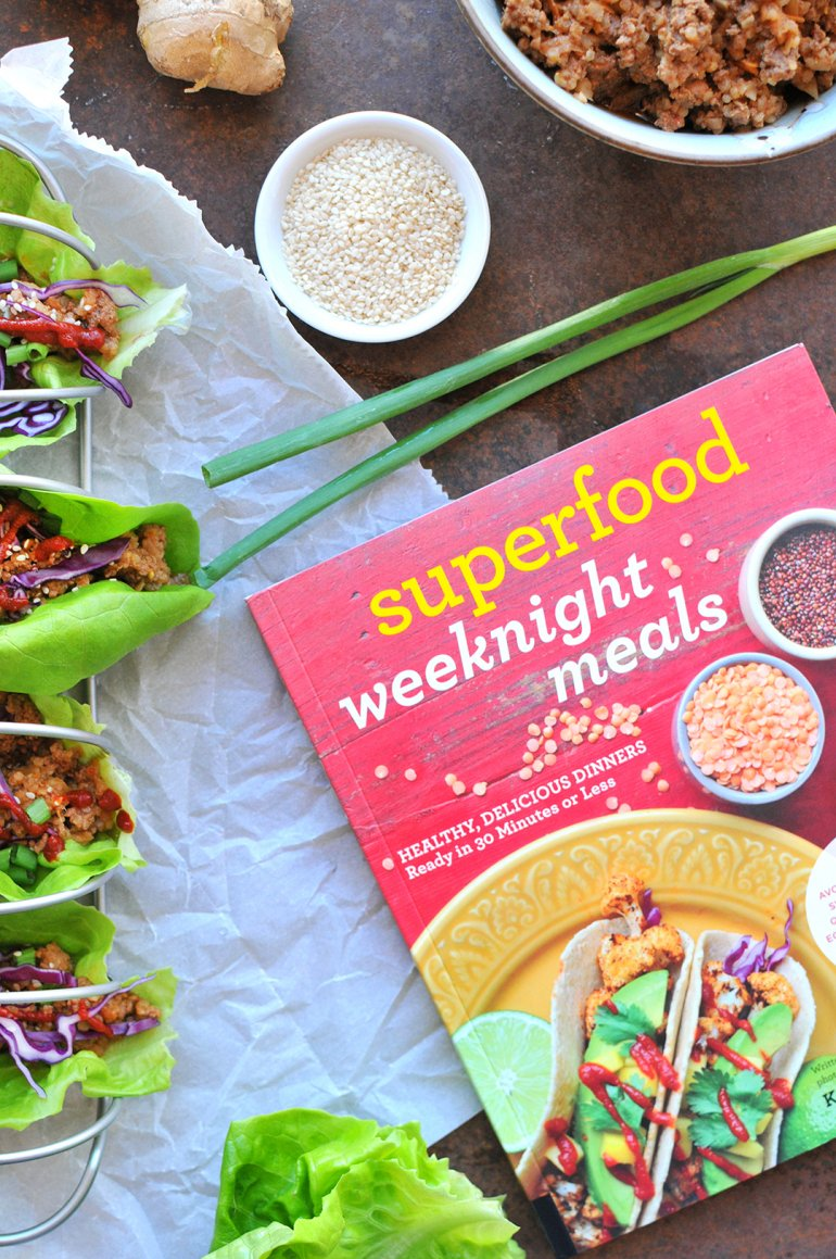 asian lettuce wraps from superfood weeknight meals