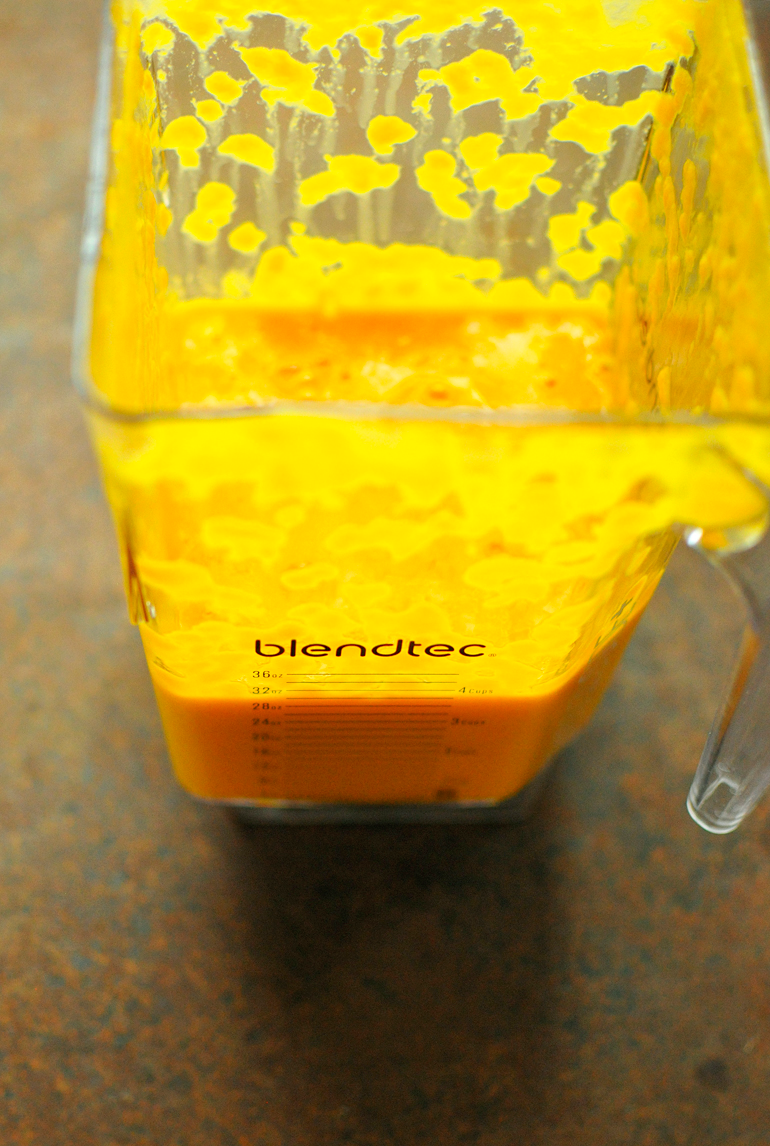 tropical sunrise veggie pops made in the blendtec