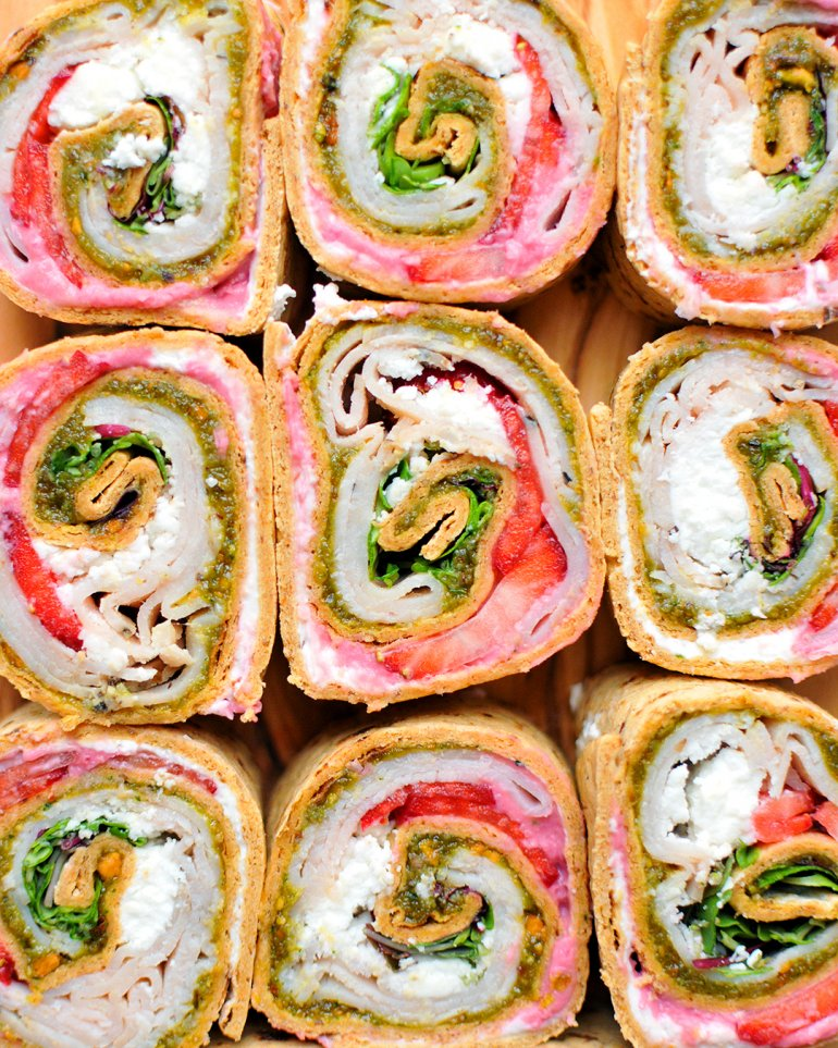 turkey strawberry pinwheels