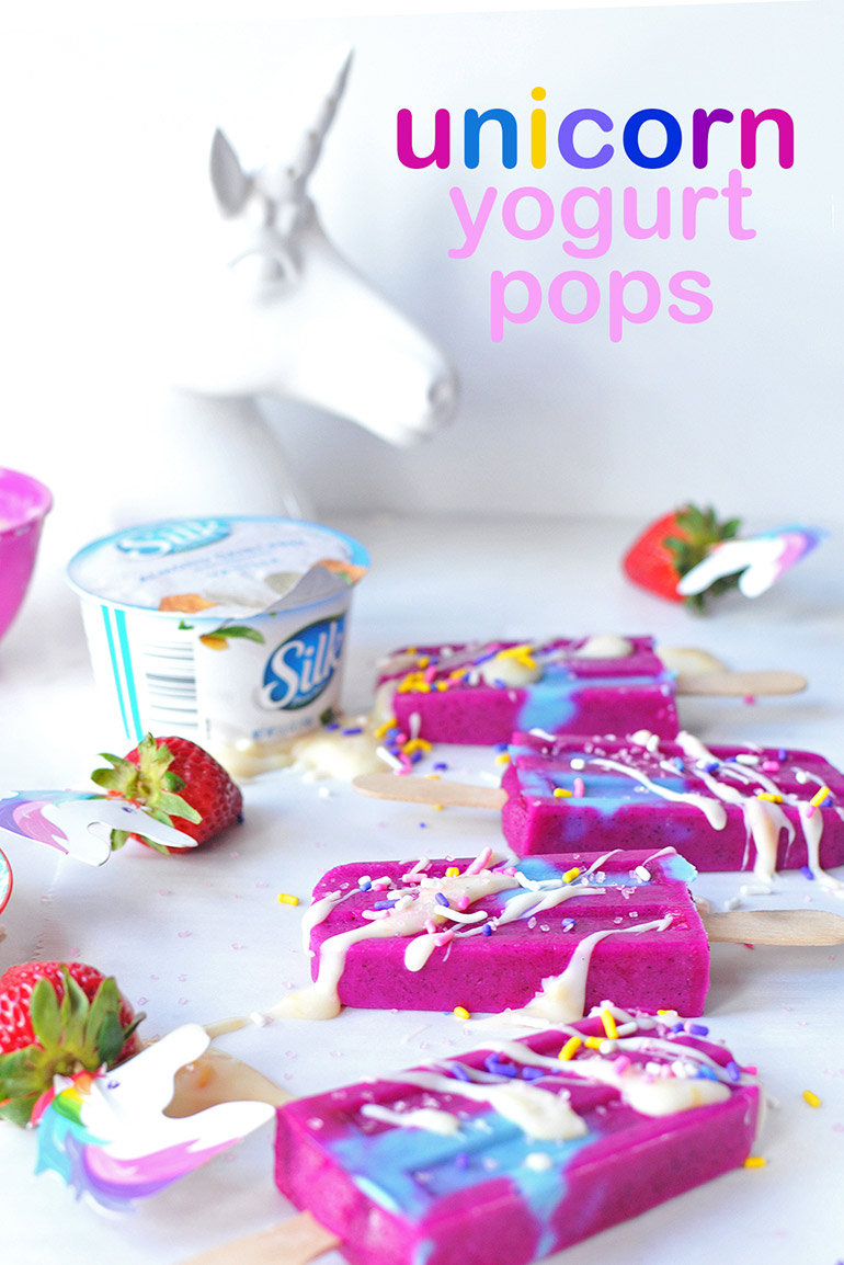 unicorn yogurt pops
