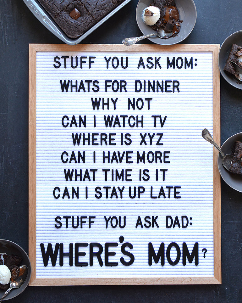funny letterboard about mom