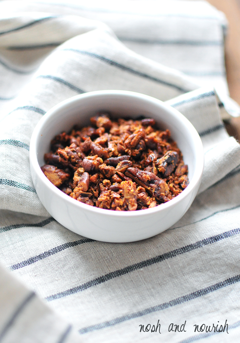 crushed honey roasted pecans
