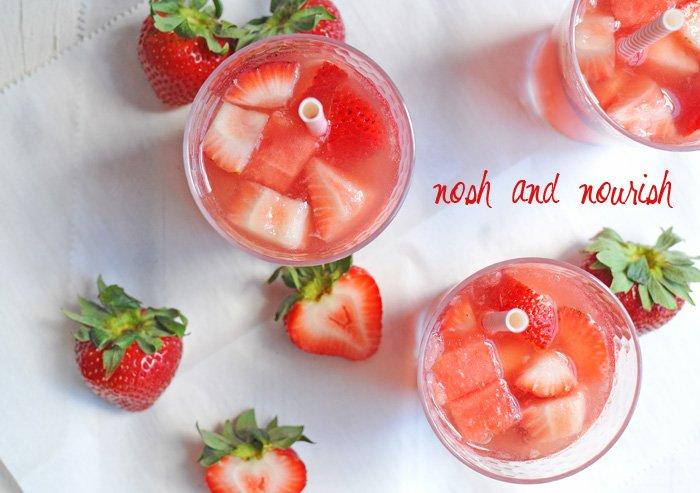 Sparkling Strawberry Sangria Recipe — Dishmaps