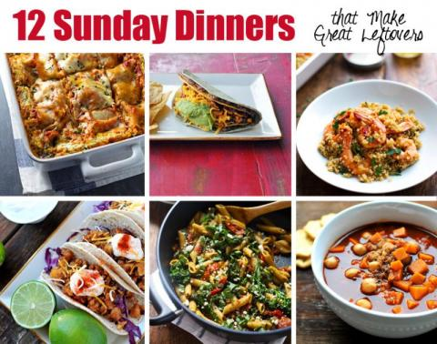 Sunday Dinner Ideas If Sunday dinner is sacred, you'll love our recipes that bring family together. The best kind of Sundays start with coffee and a crossword and end with the family—immediate or extended—coming together to share a meal.